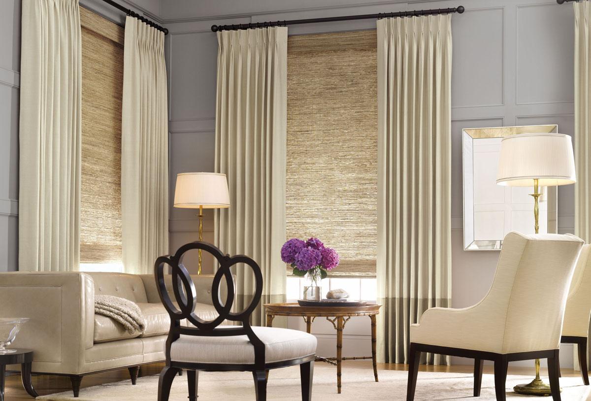 Рулонные шторы в гостиную – современные идеи дизайна