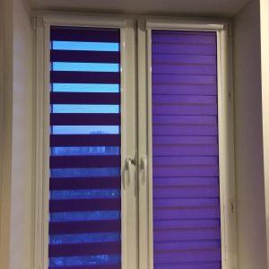 Рулонные кассетные шторы «Зебра День-Ночь» UNI-2